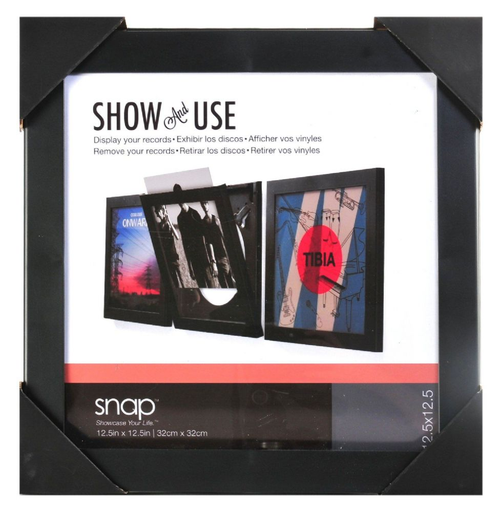 Show And Use Vinyl Record Frame Black 320x320mm